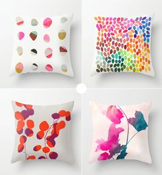 Painted throw pillows by Garima Dhawan   ♥