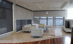 dual roller blinds white - Google Search