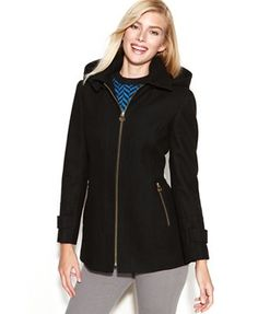 Michael Kors Rain Coat - I had a hard time finding a photo of it, much less where to purchase one online.  Anyway, this was a spectacular find in the middle of my Christmas shopping. It's trendy, dressy, it has a hood, and it's warm! #MK #MichaelKors #rainjacket #jacket #raincoat #coat #winter #deals #cheap #neimanmarcuslastcall #neimanmarcus #style #2015 #2016