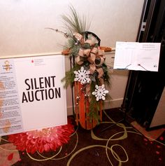 Holiday Beauty Decorated Sled by Laura Skoff Leukemia And Lymphoma Society, Silent Auction, Sled, How To Raise Money, Ladder Decor, Cancer, Trees, Holiday, Beauty
