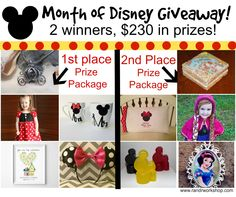 Month of Disney Giveaway! There will be 2 Winners! Yes 2! July 1-6th  Enter to win  http://www.randrworkshop.com/2014/07/month-of-disney-giveaway-2-winners.html Creations By CC is giving away 8 Large Mickey head glycerin soaps as part of the prize! https://www.etsy.com/shop/CreationsByCC1 https://www.facebook.com/creationsbycc1