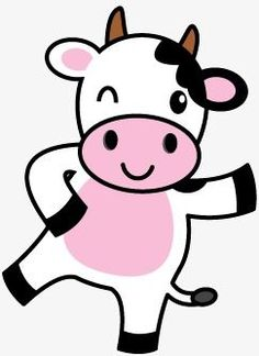 Cartoon cow vector material PNG and Vector Cartoon Cow, Cute Cartoon, Cow Cartoon Drawing, Cow Craft, Cow Birthday, Cow Vector, White Cow, Cute Cows, Easy Drawings
