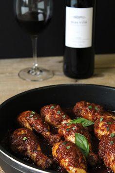 Recetas Maset del Lleó: Muslitos de pollo con salsa al toque de chocolate ...