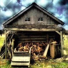 Old shack with firewood storage.  ©AReese2015