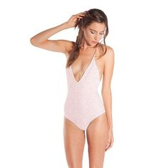 Strappy Braided One Piece Swimsuit - Vanilla Beach