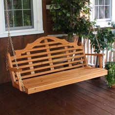Havenside Home Bintuni Pine Marlboro Style Outdoor Swing (Cedar Stain) Cedar Pergola, Pergola Swing, Pergola Ideas, Pergola Plans, Pergola Patio, Pergola Kits, Patio Ideas, Backyard Ideas, Corner Pergola