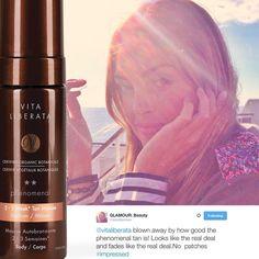Glamour Magazine's Beauty Director Alessandra Steinherr is a huge fan of our pHenomenal 2-3 Week Tan!