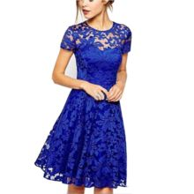 fee38b31ad5 5XL Plus Size Fashion Elegant Sweet Hallow Out Lace Dress. Click on it and  ask