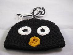 Crochet Korner Crochet Penguin Hat Beanie Newborn by CrochetKorner, $12.00