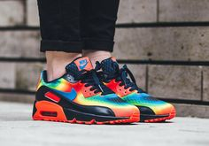 The Nike Air Max 90 is back in one of the most vibrant color options in recent memory, as a breathable Engineered Mesh upper sees an array of Obsidian, Bright Crimson, and Volt come together to form a heat-seeking exclusive. … Continue reading →