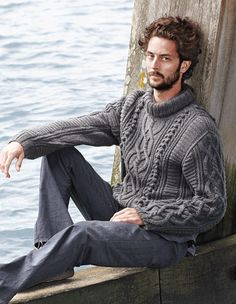 Knitting Pattern Guy : 1000+ images about men sweater on Pinterest Aran ...