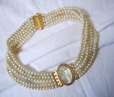 Necklace. Gold, pearls, diamonds, mother of pearl.