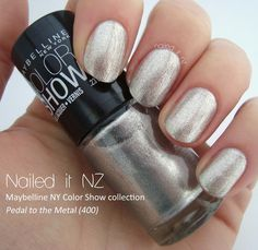 On my toes this week 10/2/14 Maybelline Color Show - Pedal To The Metal