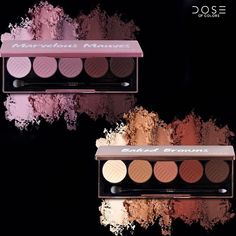 """DOSE of COLORS (@doseofcolors) on Instagram: """"Let us introduce you to our newest eyeshadow palettes: •BAKED BROWNS•  & •MARVELOUS MAUVES•  Each…"""""""