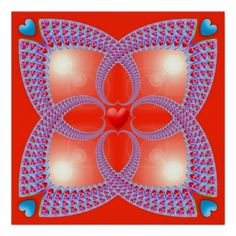 Red Celtic Heart Fractal Pattern Posters - http://www.photographybypixie.com/2014/11/26/red-celtic-heart-fractal-pattern-posters/ #photography #photo #gifts #shopping