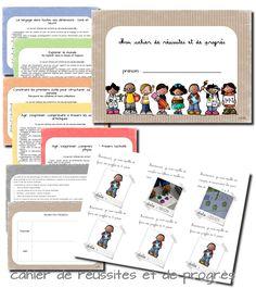 En suivant le modèle trouvé sur eduscol , j'ai réalisé un cahier de progrès, avec une couverture une explication aux parents ...