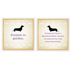 Sneaky Dachshund Wall Canvases - Set of 2