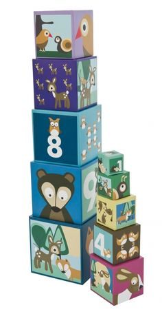 january 2017 7 sebra blue stacking blocks in heavy carton one size Designers Guild, Baby Decor, Kids Decor, Decor Ideas, Gift Ideas, Cubes, Baby Toys, Kids Toys, Children's Toys
