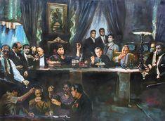 Fallen Last Supper Bad Guys Painting