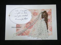 #Marianne Design Team ☆JP☆ #Marianne Design #wedding card #ribbon