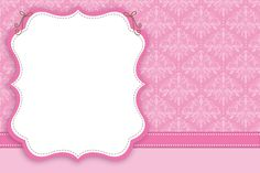 Invitation Card Frame and Rose Arabesque: