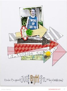 #papercraft #scrapbook #layout. just go (main kit only) by just g at @studio_calico