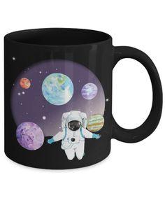 Astronaut Floating In Space Mug Galaxy Planets Universe Art Floating In Space, Galaxy Planets, Watercolor Galaxy, Moon Landing, Galaxy Design, Universe Art, Best Deals Online, Space Exploration, Astronaut