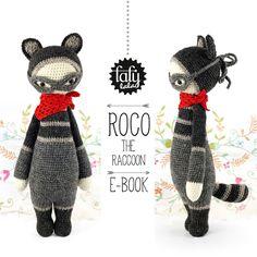 lalylala patron au crochet ROCO le RATON LAVEUR par lalylala