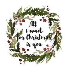 рождественский венок акварель - Поиск в Google