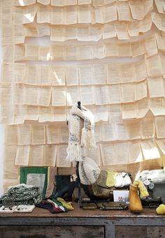DIY Book page wall