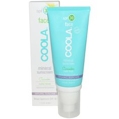 COOLA Organic Suncare Collection, Face, Mineral Sunscreen, SPF 30, Matte Finish, Cucumber, 1.7 fl oz (50 ml)