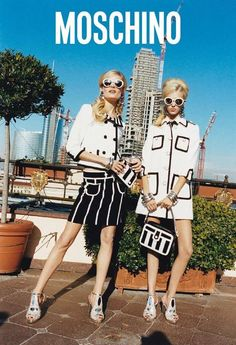 Hanne-Gaby Odiele & Juliana Schurig by Juergen Teller for the Moschino Spring 2013 Campaign