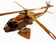 SH-60 Hawk Wooden Helicopter Beautiful Handcrafted Mahogany Model For Display