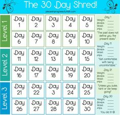 Use this printable calendar to reach your goals in 30 days ...