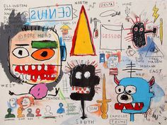 JEAN MICHEL BASQUIAT; SIGNED ON THE BACK