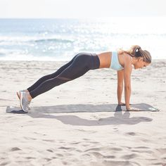 TUMMY TONERS + PUSHUP Do 15 reps! Toning Workouts, Fun Workouts, Ab Exercises, Thigh Workouts, Beach Workouts, Dumbbell Workout, Kettlebell, Pilates, Burst Training