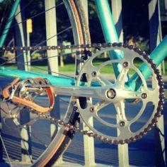 Nervar cranckset  Vintage bicycle-Peugeot road bike Fixie-track-fixed gear-pista