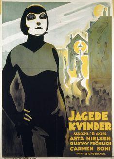 Danish poster for 1927's Gehetzte Frauen, starring Asta Nielsen