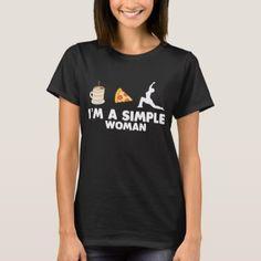 Shirt For Yoga Coffee Pizza Lover. - yoga health design namaste mind body spirit