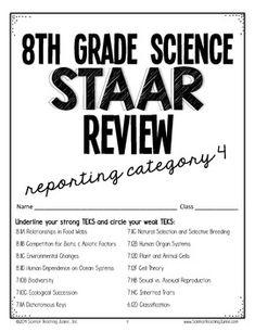 Science Teaching Junkie, Inc.: 8th grade Science STAAR