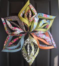 Paper star or paper flower from scrapbook paper