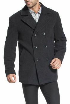 Amazon.com  BGSD Men s Wool Pea Coat  Clothing c1c63a4a26566
