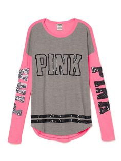 Bling Long Sleeve Tee - PINK - Victoria's Secret