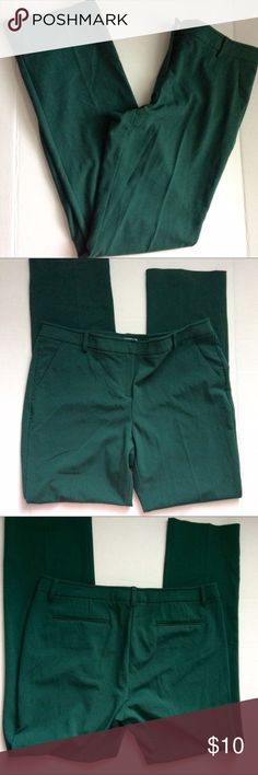 Emerald green dress pants Emerald green dress pants from New York and company. Unique alternative to the black pant. 64% polyester, 32% Rayon, 4% spandex. Size 12. New York & Company Pants