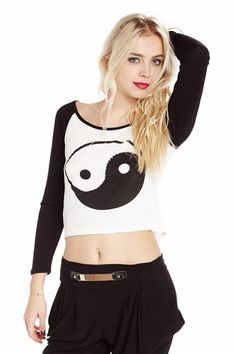 Seeing Both Sides Yin Yang Graphic Top only $12.99