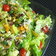 For the Love of Cooking » Southwestern Salad with Cilantro Lime Vinaigrette