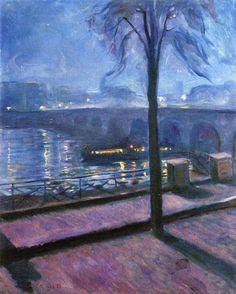 """Edvard Munch, """"The Seine at St. Cloud"""" (1890) Edvard Munch, Michelangelo, Albert Bierstadt, Amedeo Modigliani, Oil Painting Reproductions, Wassily Kandinsky, Oslo, Oeuvre D'art, Painting & Drawing"""