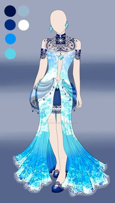 Blue Water| Outfit Adoptable Auction CLOSED by LittleVioletGhost