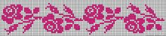 Micro macrame / alpha friendship bracelet pattern / cross stitch chart - can also be used for crochet, knitting, knotting, beading, weaving, pixel art, and other crafting projects.