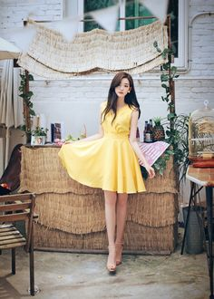 Korean Daily Fashion - Official Korean Fashion Korean Girl Fashion, Cute Fashion, Asian Fashion, Daily Fashion, Stylish Dress Designs, Stylish Dresses, Cute Dresses, Beautiful Dresses, Summer Dress Outfits